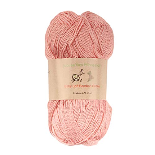Baby Soft Bamboo Cotton Yarn - JubileeYarn - Blush - 4 ()