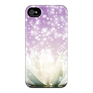 Bernardrmop Case Cover Protector Specially Made For Iphone 4/4s Lotus Flower Sparkle