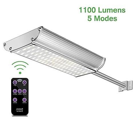 Luces Solares Exterior con Sensor Movimiento,Lacyie Pared Lámparas Solares Exterior Jardín con Mando a