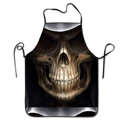 Dsiempwe Manual Custom Cool Wallpaper Skull Background Personalized Aprons Chef Apron for Women Men Girl Kids Gifts Kitchen Decorations,Wear-Resisting]()