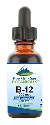 B12 Vitamin 1000 mcg – Kosher B12 Drops in 1oz Bottle with Natural Berry Flavor