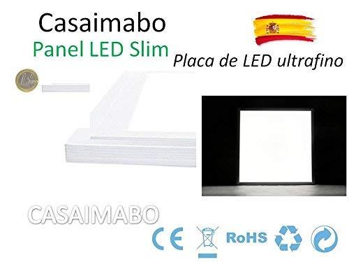 PACK X2 Panel LED Slim 60x60cm 48W 3900lm Marco Blanco Blanco Fr/ío 6500K LED