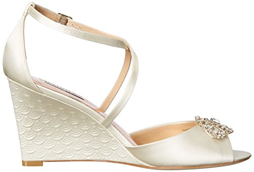 Badgley Mischka Women's Abigail Wedge Sandal Ivory STfmjf5
