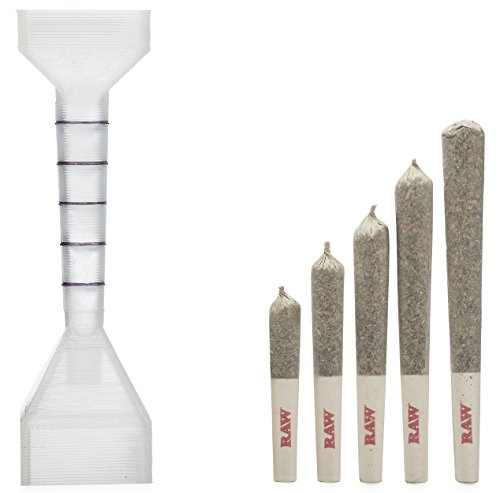 RAW 1 1/4 Pre-Rolled Cone Filler and Loader w/Measuring Guide - Includes: packNpuff Cone Filling Tool, and Wooden Packing Stick ()