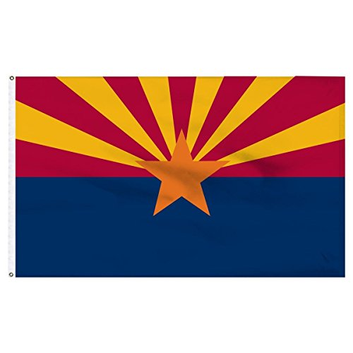 ALBATROS 2 ft x 3 ft Arizona Flag 2x3 House Banner Grommets 150 Denier Super Polyester for Home and Parades, Official Party, All Weather Indoors Outdoors