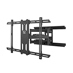 kanto full motion tv wall mount for 37 inch to 75 inch flat screen monitor easy. Black Bedroom Furniture Sets. Home Design Ideas