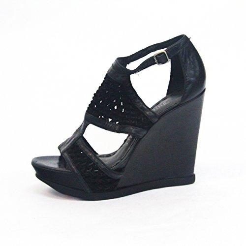 Juicy Couture Open-toe sandalias de cuña semi-mule Talla 3,5 Dorado - dorado