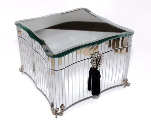 classic Glamour Mirrored Jewelry Box (sliver) (Mirrored Keepsake Box)