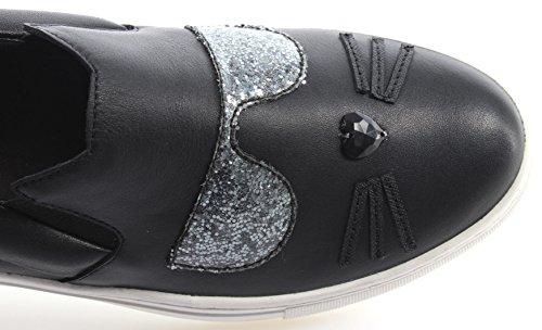Karl Lagerfeld Kupsole Choupette Toe Slip Damen Sneaker Schwarz