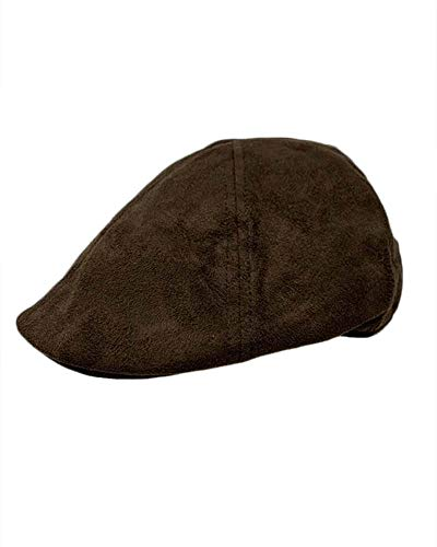 - The Hatter Women Men Unisex Suede Duckbill Ivy Hat Cap with Elastic Band at The Back (Brown)