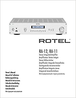 Rotel RA-12 Amplifier Owners Instruction Manual Reprint: Amazon.com: Books