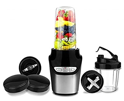 1000 Watts Nutri Power Blender Mixer High-Speed Food Extractor Juicer Smoothies Maker 8 Piece Set Food Fruit Processor
