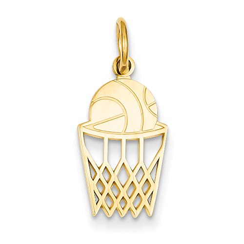 Diamond2Deal 14k Yellow Gold Basketball in Net Pendant from Diamond2Deal