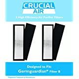 2 Germguardian Air Purifier HEPA Filter B FLT4825 Fits AC4800 Series FLT5000 FLT-5000 FLT 5000 Germ Guardian, Designed & Engineered by Crucial Air