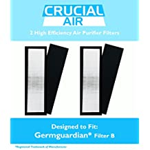 2 Germguardian Air Purifier HEPA Filter B FLT4825 Fits AC4800 Series FLT5000 FLT-5000 FLT 5000 Germ Guardian, Designed & Engineered by Crucial Air
