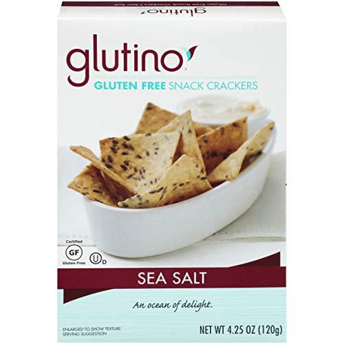 Free Crackers Glutino Gluten (Glutino Gluten Free Crackers, Premium Table Crackers, Balanced Flavor, Sea Salt, 4.25 Ounce)