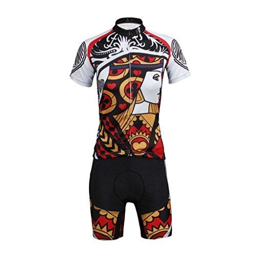 PaladinSport Men's Poker Style Short Sleeve Road Bike Clothing Set Asian Size S ()