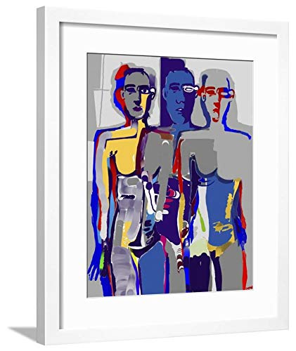 Diana Ong, White Framed Matted Wall Art Print, 24x18 in ()