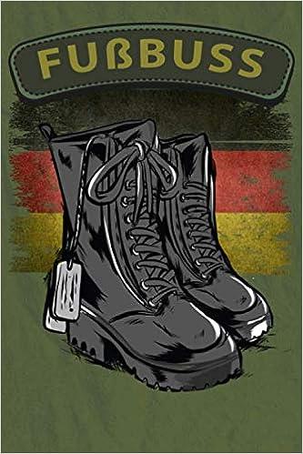 NOTIZBUCH Bundeswehr Stiefel Fußbus Beruf Soldat Soldaten