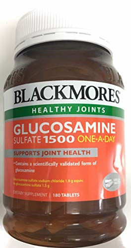 Blackmores Glucosamine Sulfate 1500mg One-A-Day 180 Tablets (Best Glucosamine Brand Australia)