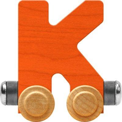 NameTrain Bright Letter Car K - Made in USA (Orange)