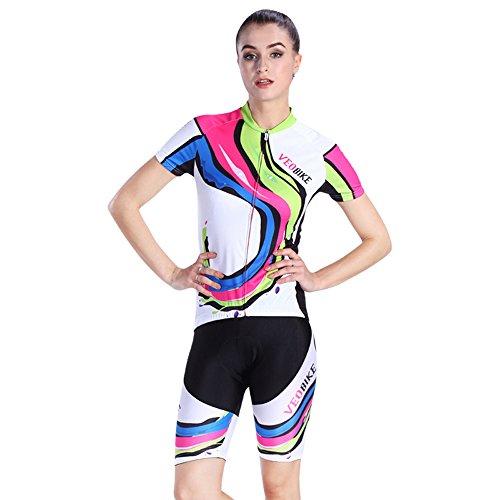 歯科医レーザタイピストサイクルジャージ 上下セット レディース 夏用 サイクリングウェア 女性用 自転車ウェア 速乾吸汗通気 小物入れバックポケット 反射テープ付き UVカット S~XXLサイズ展開