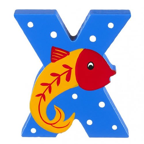 Orange Tree Toys : Wooden Letter X for X-Ray Fish LX394