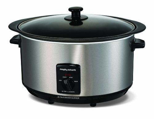 Morphy Richards Accents Sear and Stew Slow Cooker 6.5L Brushed Stainless...