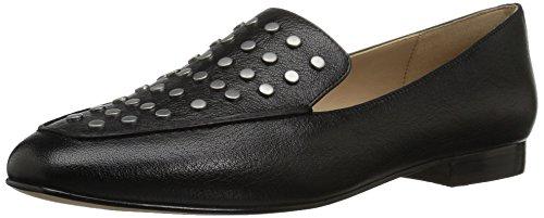 The Fix Womens Dakoda Silver Head Stud Loafer Flat Black Leather Xvoze40Gpj