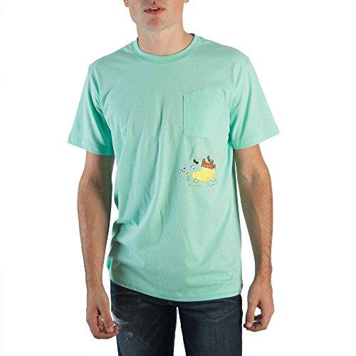 Nickelodeon Spongebob Squarepants Men's Upside Down Pocket Tee (X-Large (46/48))