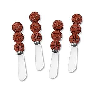 Mr. Spreader 4-Piece Basketball Resin Cheese Spreader