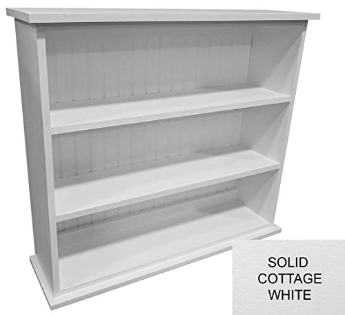 Solid Pine Narrow Bookcase (Solid - Cottage White)