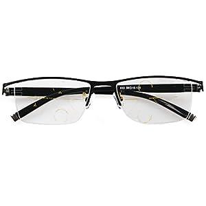 Meijunter Gradually Varifocal Reading Glasses See Far/Near Lens Computer Men