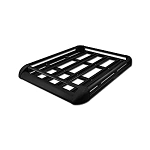 "VXMOTOR 50"" BLACK ALUMINUM ROOF RACK BASKET CAR TOP CARGO BAGGAGE CARRIER STORAGE (Cross Bars Are NOT Included)"