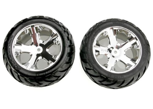 Traxxas 3773' All Star with Anaconda EP Rear Tire and Wheel Model Car Parts, Chrome TRA3773