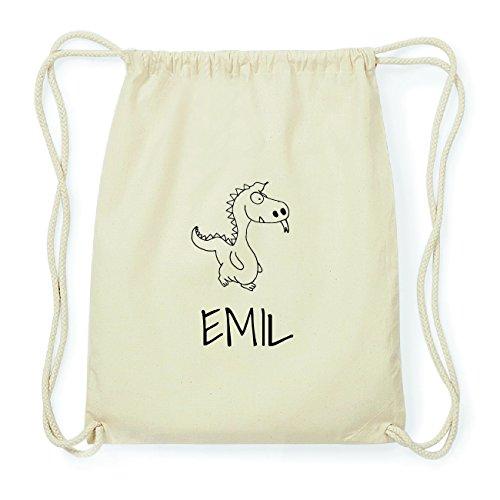 JOllipets EMIL Hipster Turnbeutel Tasche Rucksack aus Baumwolle Design: Drache