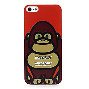 LIMME Peter Jacksons King Kong 3D Carving Characters Pattern Durable Hard Case for iPhone 5/5S