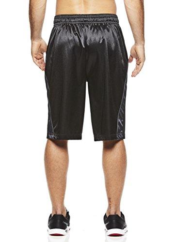Above The Rim Men's Mesh Basketball Shorts - Workout & Gym Shorts For Men - Coast 2 Coast - Black, Small (Silk Basketball Shorts)