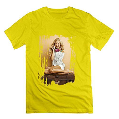 Men's Insidious Chapter 3 Olivia Holt Poster O-neck T Shirt Size M Yellow