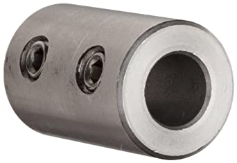 "Climax Metal RC-031-S  Coupling, Stainless Steel Grade 303, 5/16"" Bore , 5/8"" OD, With 10-32 x 1/8 Set Screw"