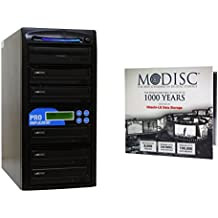 Produplicator 1 to 5 M-Disc Support CD DVD Duplicator Bundle with 1 Pack M-DISC DVD (Up to 24X DVD Burn Speed, Standalone Duplication Tower)