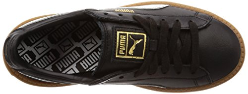 Pelle Sneakers Nero Donna Nero Trace Platform Puma Wmns Basket THqwXC
