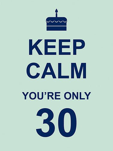 Read Online Keep Calm You're Only 30 PDF