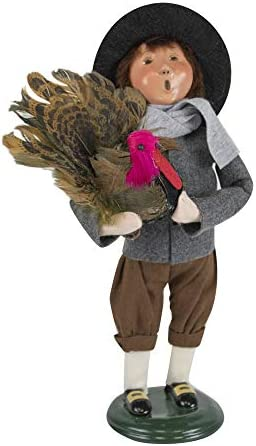 Byers Choice Pilgrim Boy Caroler Figurine from The Thanksgiving Collection 5014C