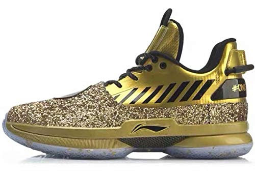 LI-NING Wow 7 Wade Men Basketball Shoes One Last Dance Limited Edition Sports Male Shoes Black Gold ABAN079-27 US 10.5