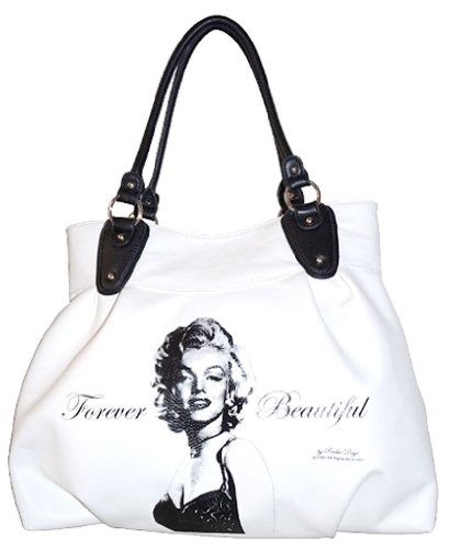 Marilyn Monroe Large Tote Style Purse (White)