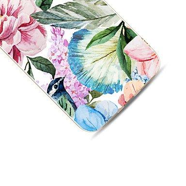 Fundas y estuches para teléfonos móviles, Para el iphone de la manzana 7 7 más 6s 6 más la cubierta del caso patrón de flor pintado alto penetración tpu material caja suave del ( Modelos Compatibles : IPhone 7