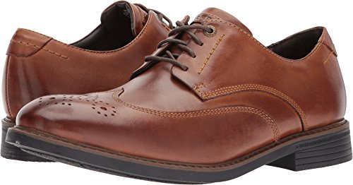 Rockport  Men's Tailor Guide Wingtip Dark Brown Leather 8.5 M - Rockport Brown