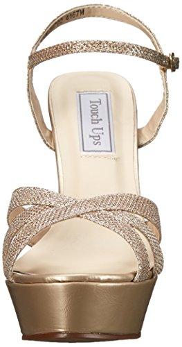 Champagne Sandal Women's Cori Shimmer Ups Touch Platform wqZzXHS