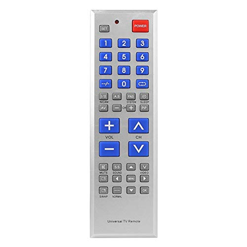 Universal TV Remote Control Oversize Key Controller for Big-Button TV Sets from Vipeco
